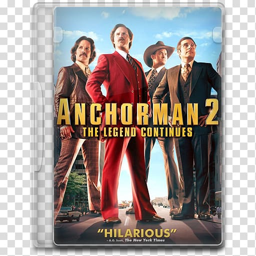 Poster muscle album cover advertising film, Anchorman 2 The.