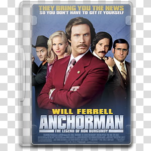 Anchorman The Legend Of Ron Burgundy transparent background.