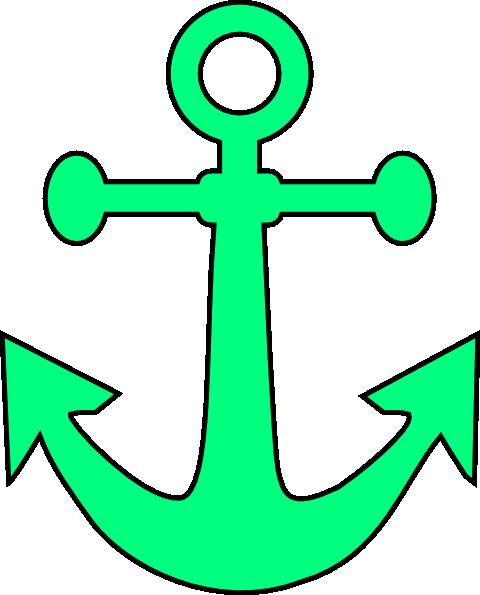 Light pink anchor clipart.