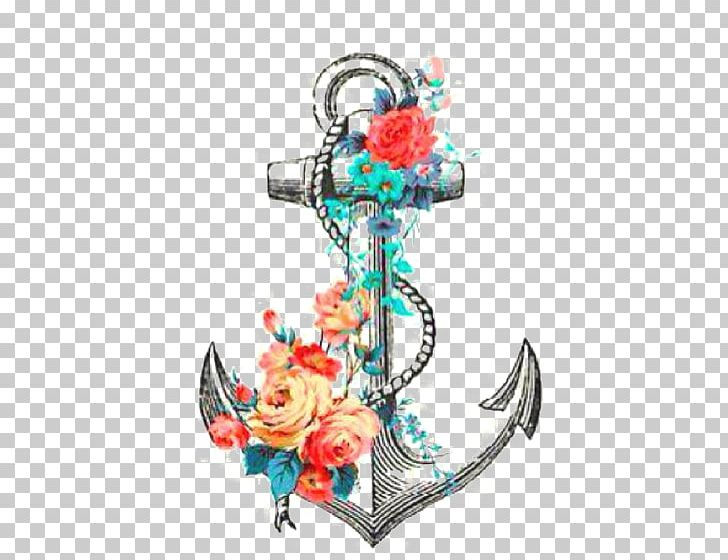 Anchor Tattoo Flower Rose Drawing PNG, Clipart, Anchor Faith.