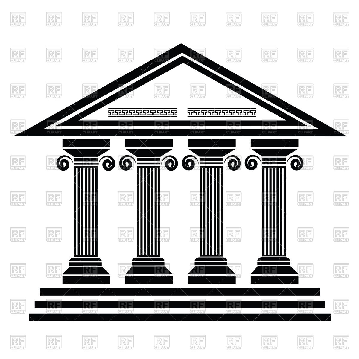 Old temple clipart #3