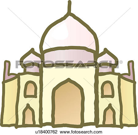 Clipart of foreign culture, world ancient architecture, tajimahal.