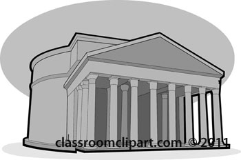 Architecture Gray and White Clipart: ancient.