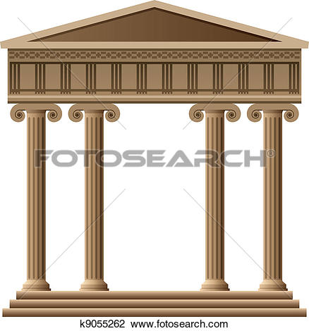 Clipart of vector ancient greek architecture k8520862.