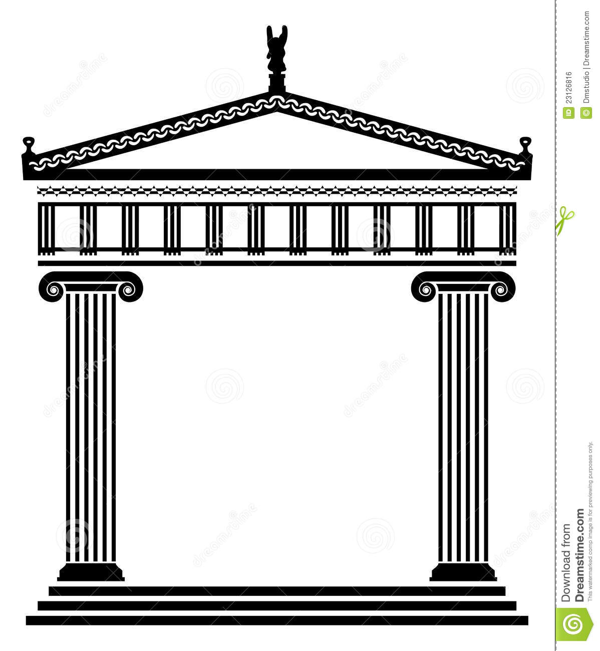 Greek architecture clipart.