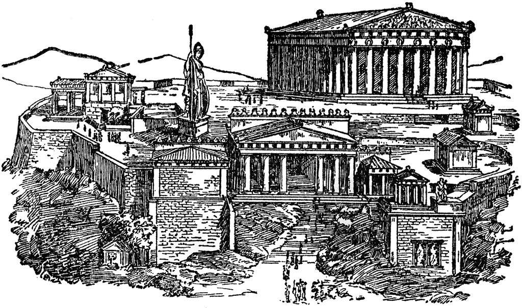 Ancient Athens Clipart.
