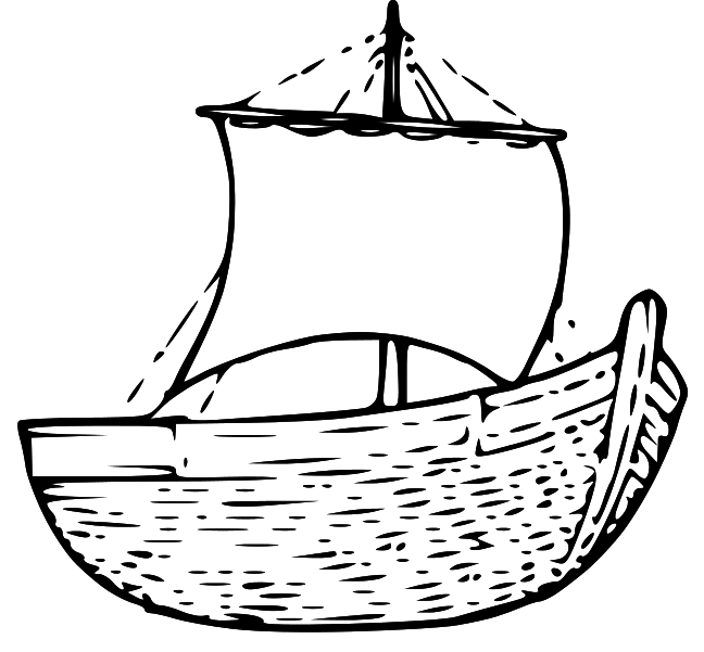 Sailboat black and white jesus row boat clipart bbcpersian7.