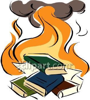 Books Burning Clipart.