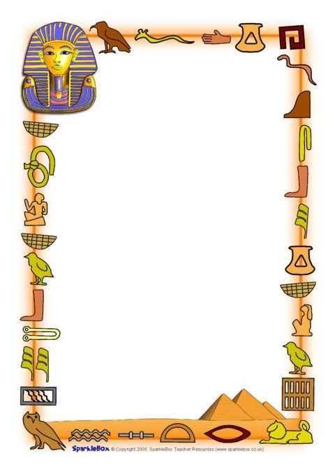 Egyptians A4 Page Borders (SB4984).