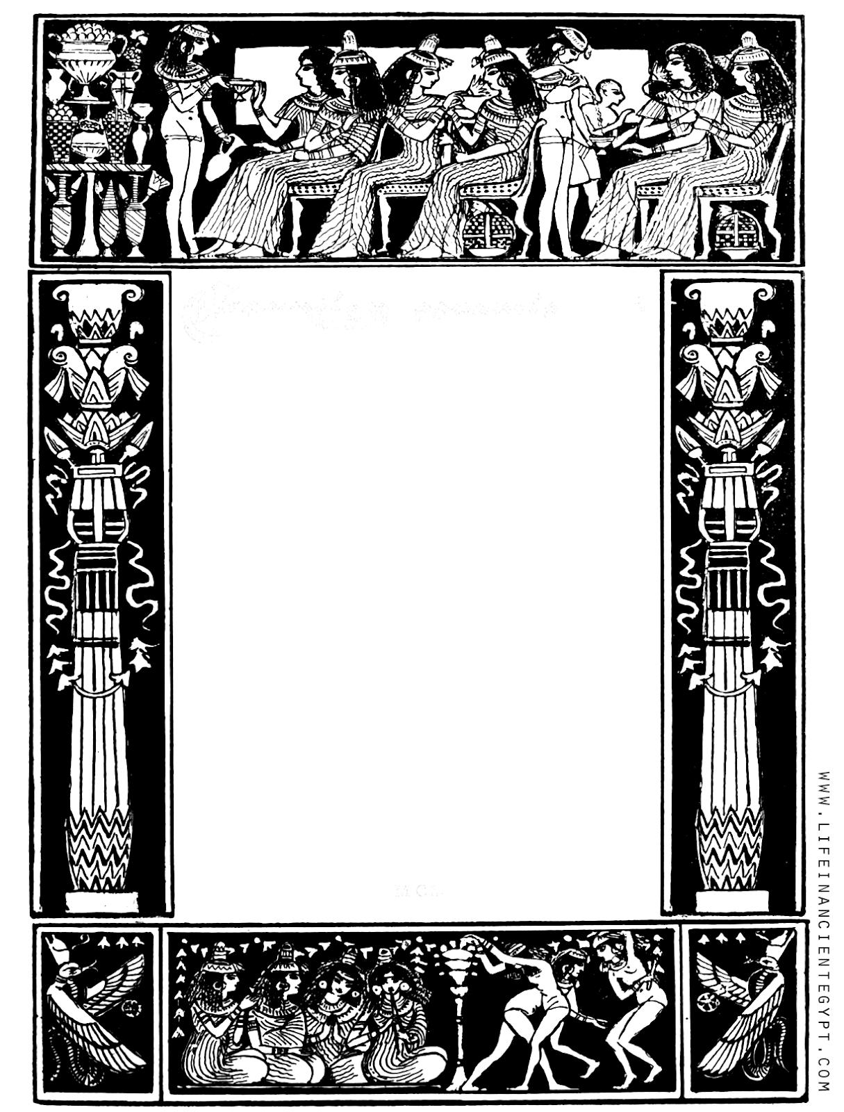Free Printable Ancient Egypt Border Clipart.