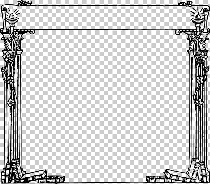 Frames Column Ancient Roman architecture , cartoon border.