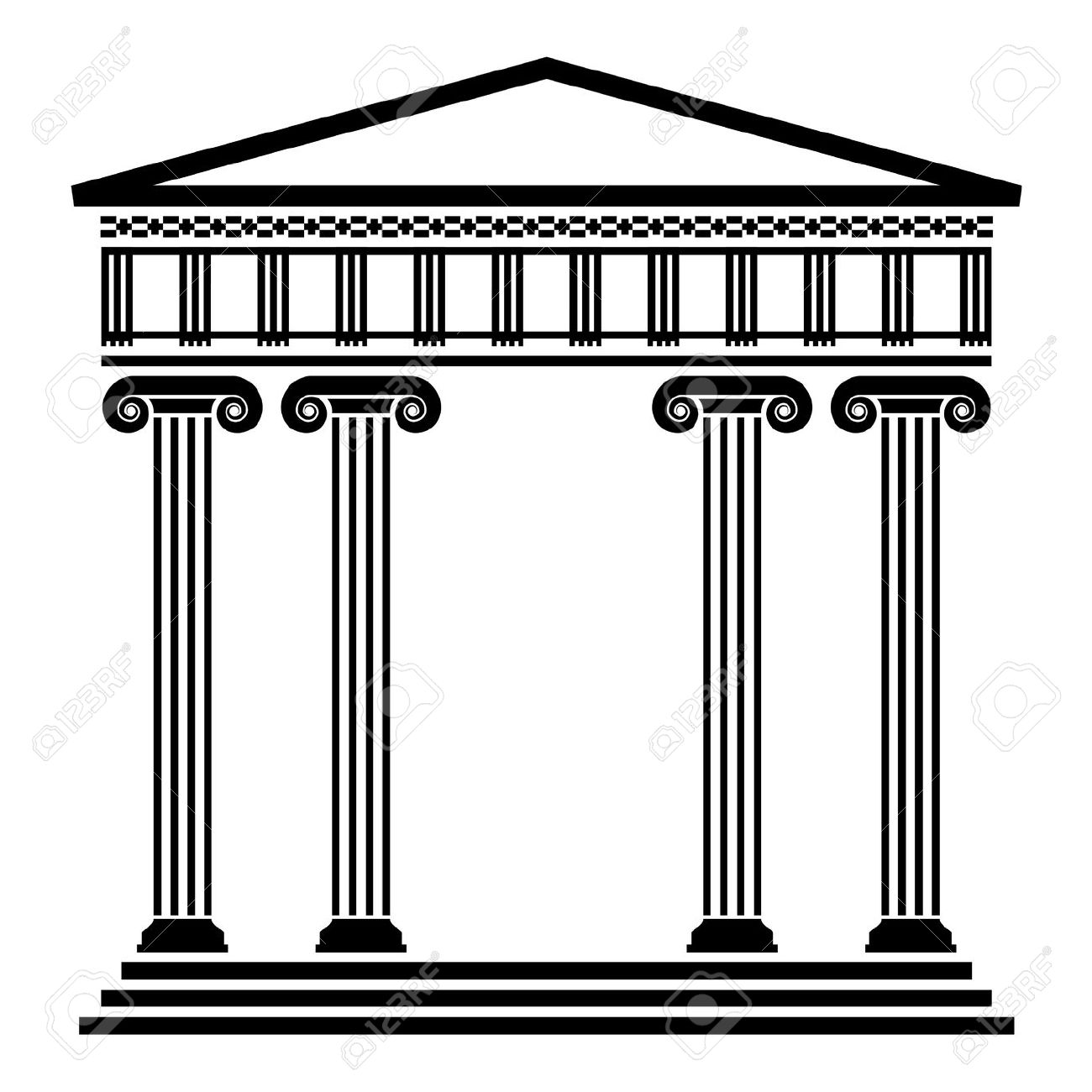 Roman building clipart.