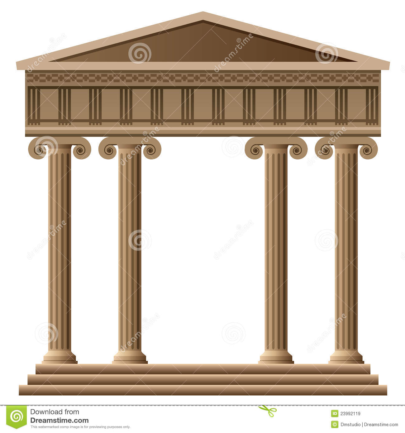 Greek Buildings Clipart.