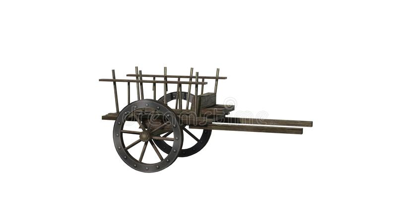 Ancient Cart Stock Illustrations.
