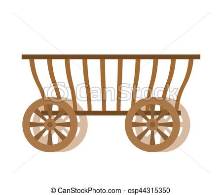 Wagon wood. Old farm transport. Ancient cargo carriage.