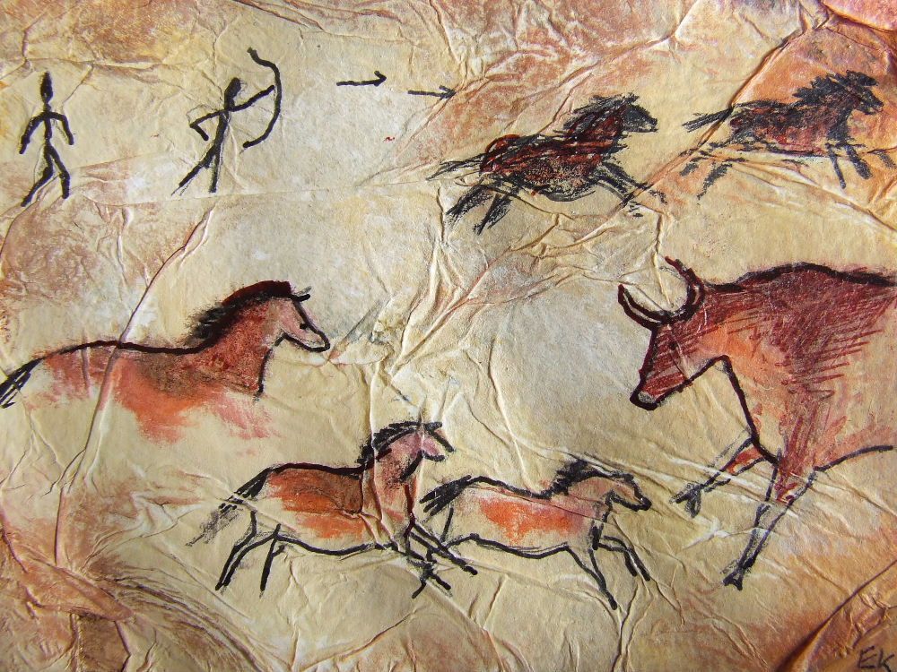 Ancient Cave Drawings.