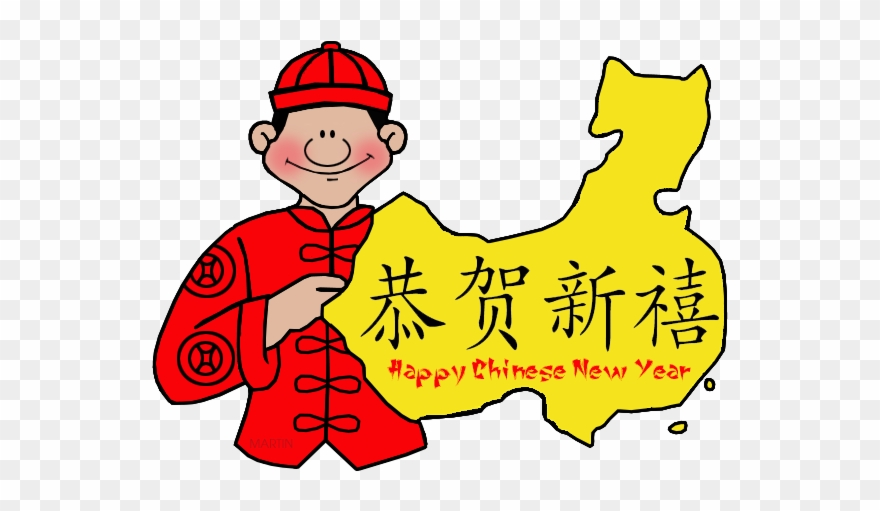 Happy Chinese New Year Map.
