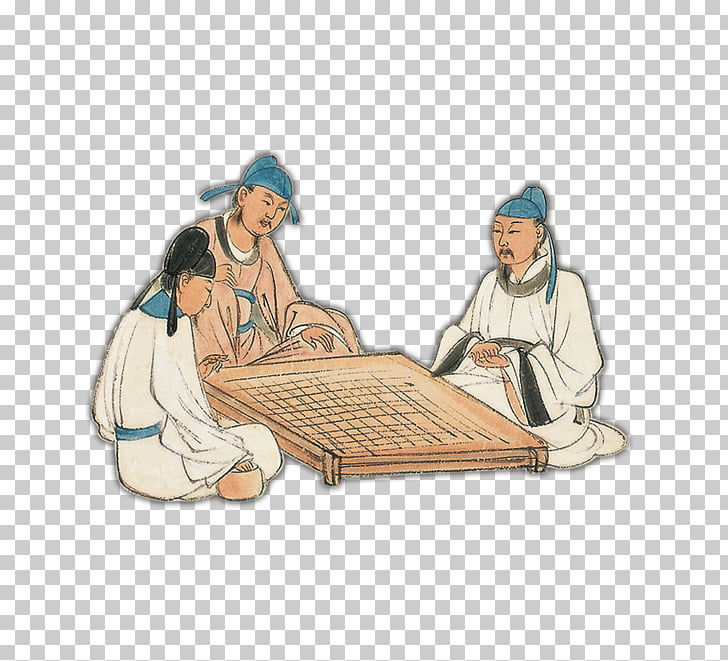 Go Chess Xiangqi u68cbu7c7b Ink wash painting, Scholars of.