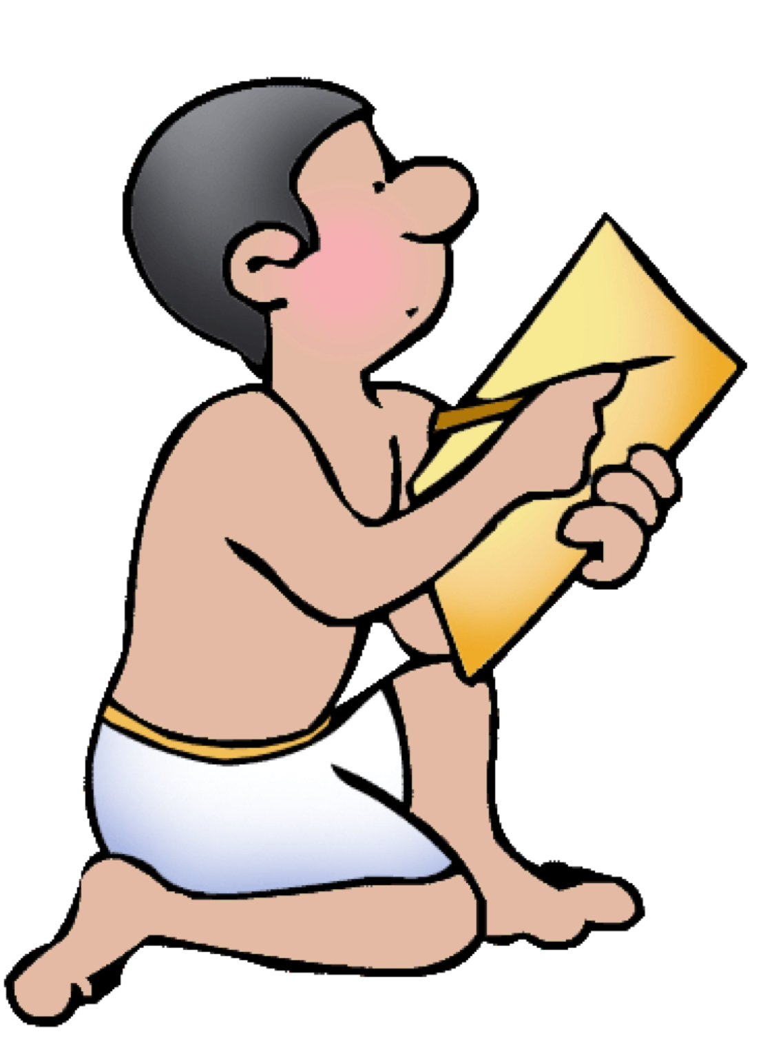 Scribes In Ancient Egypt Clipart.