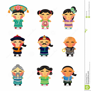 Ancient Chinese Woman Clipart.