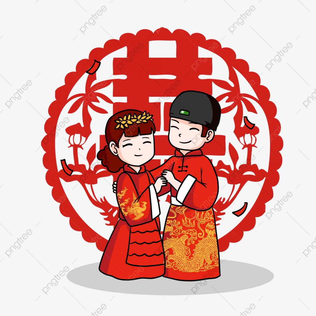 Chinese Wedding Ancient Wedding Cartoon Wedding Lovely.