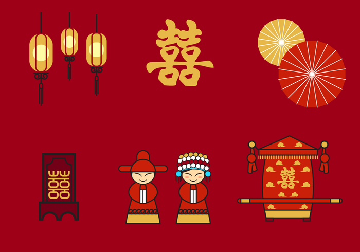 Chinese Wedding Vector.