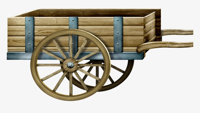 Wood Cart Clipart.