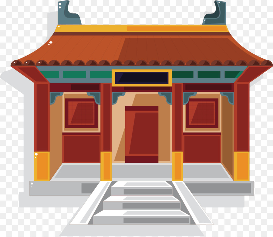 Chinese temple Chinese pagoda Clip art.