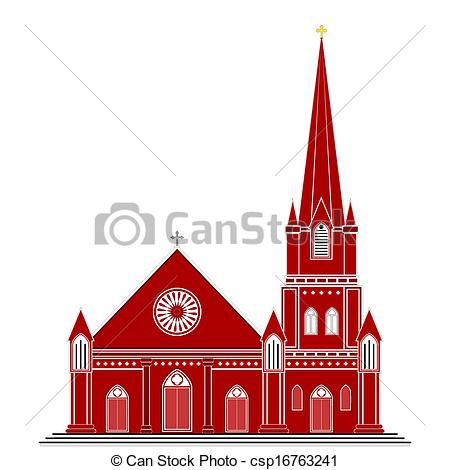 EPS Vector of Gothic Style Church.