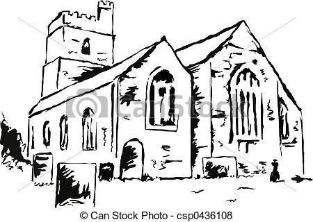 Stock Illustration of church.