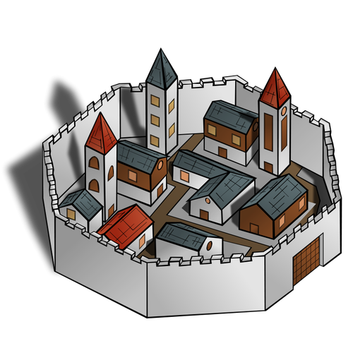 Ancient City Vector Image.