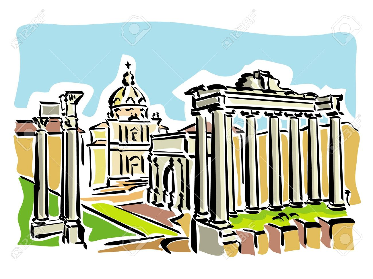 Rome (ancient Roman Forum) Royalty Free Cliparts, Vectors, And.