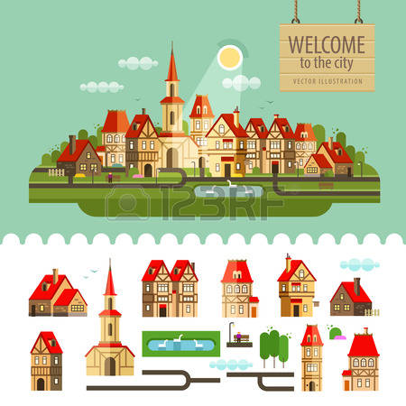 8,495 Ancient City Stock Vector Illustration And Royalty Free.