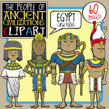 People of Ancient Civilizations Clip Art: Ancient Egypt + Kush.