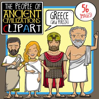 People of Ancient Civilizations Clip Art: Ancient Greece + Persia.