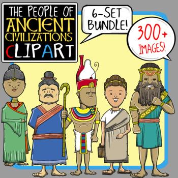 People of Ancient Civilizations Clip Art Bundle.