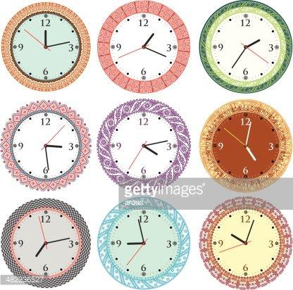 Vintage Ancient Clock premium clipart.