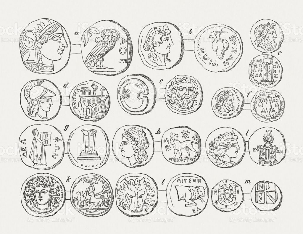 Image result for ancient coin clipart woman.
