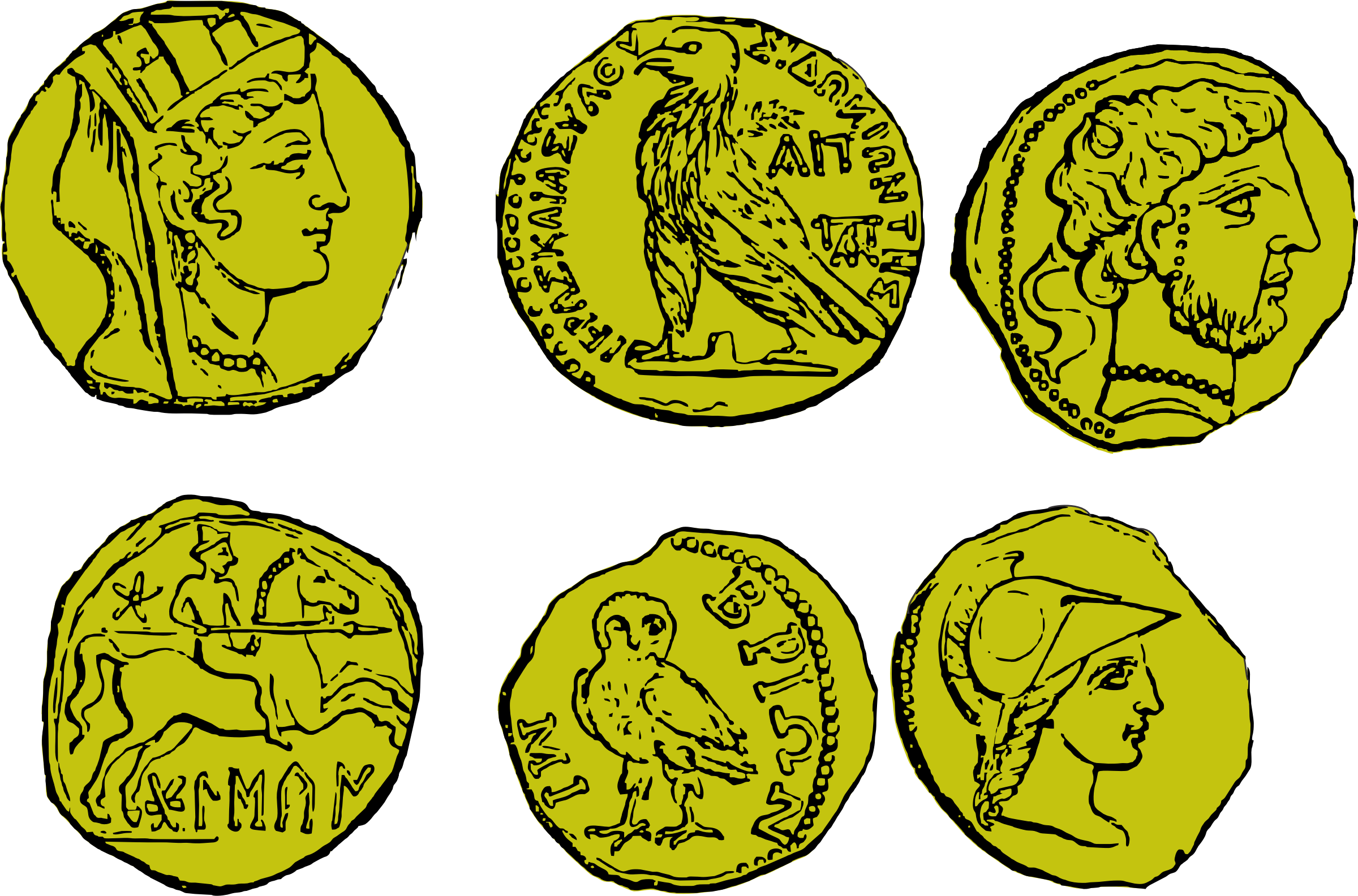 Coin clipart ancient coin, Coin ancient coin Transparent.