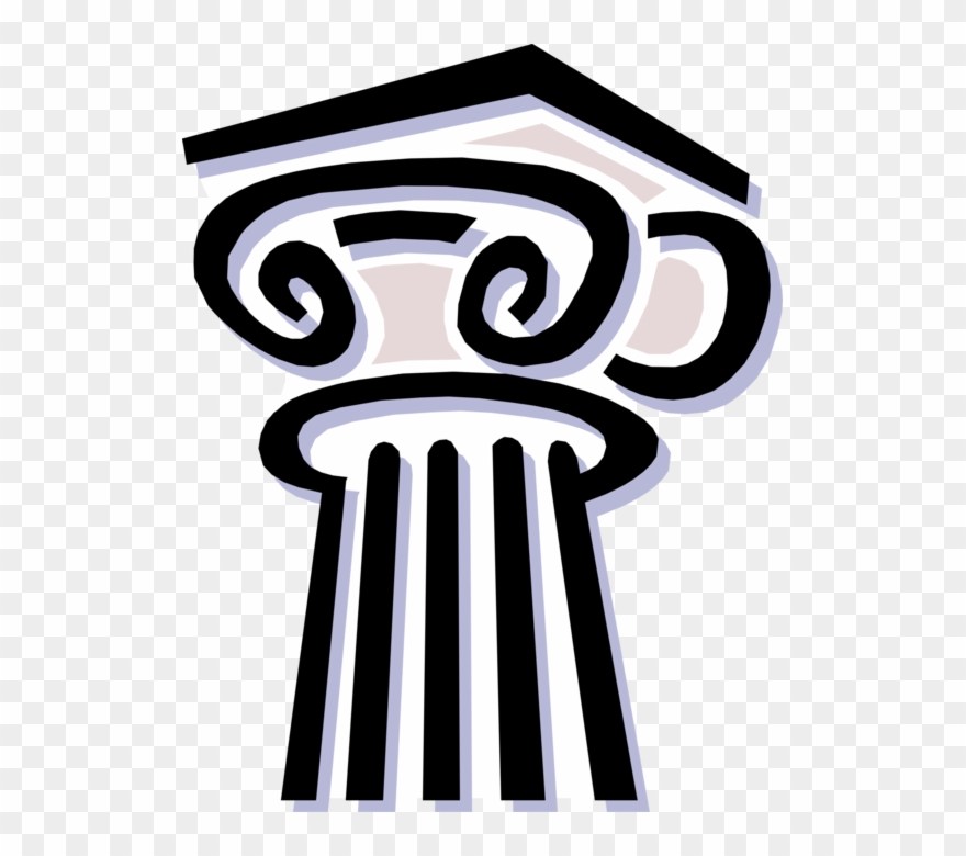 Vector Illustration Of Ancient Classic Greek Architecture.