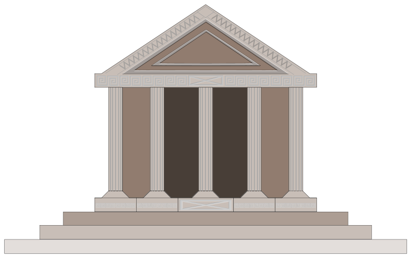 Ancient Greece Buildings Clipart.