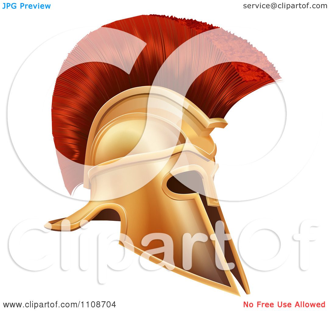 Clipart Ancient Bronze Corinthian Spartan Helmet.