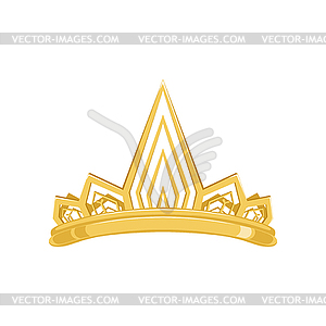 Golden ancient crown for king or monarch, queen or.