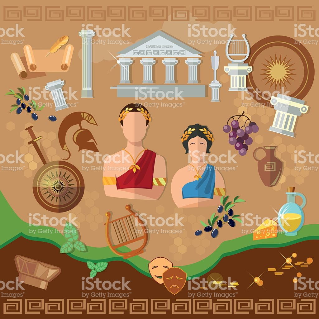 Ancient Greece Ancient Rome Tradition And Culture stock vector art.