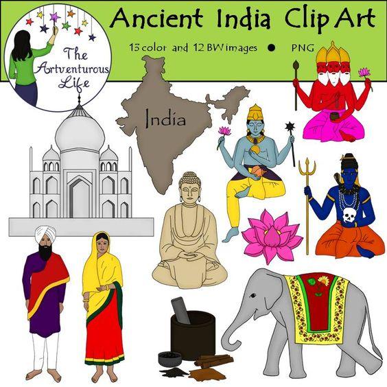 Ancient India Clip Art.