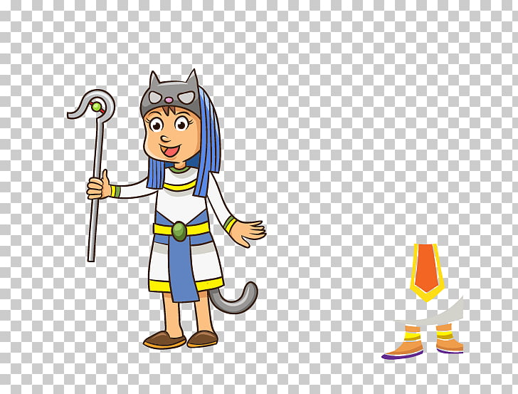 Ancient Egypt Cartoon , One Piece Boy PNG clipart.
