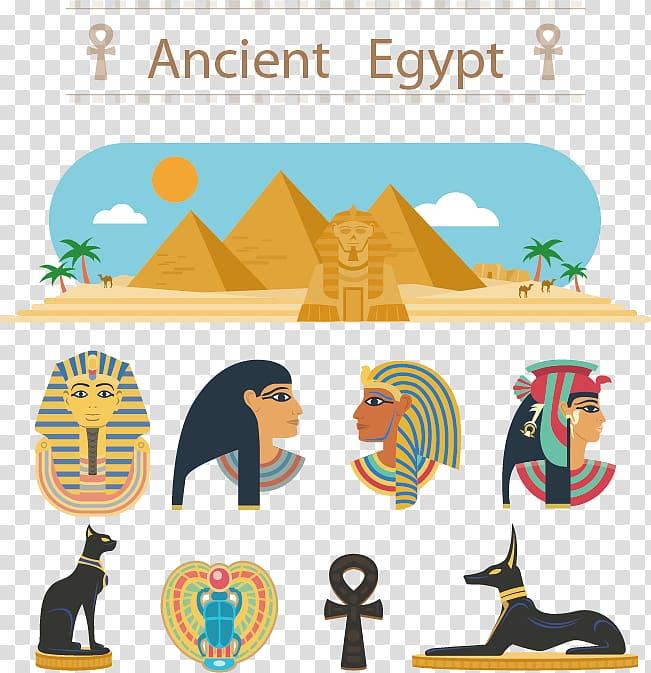 Egyptian pyramids Ancient Egyptian deities, Egypt cartoon.