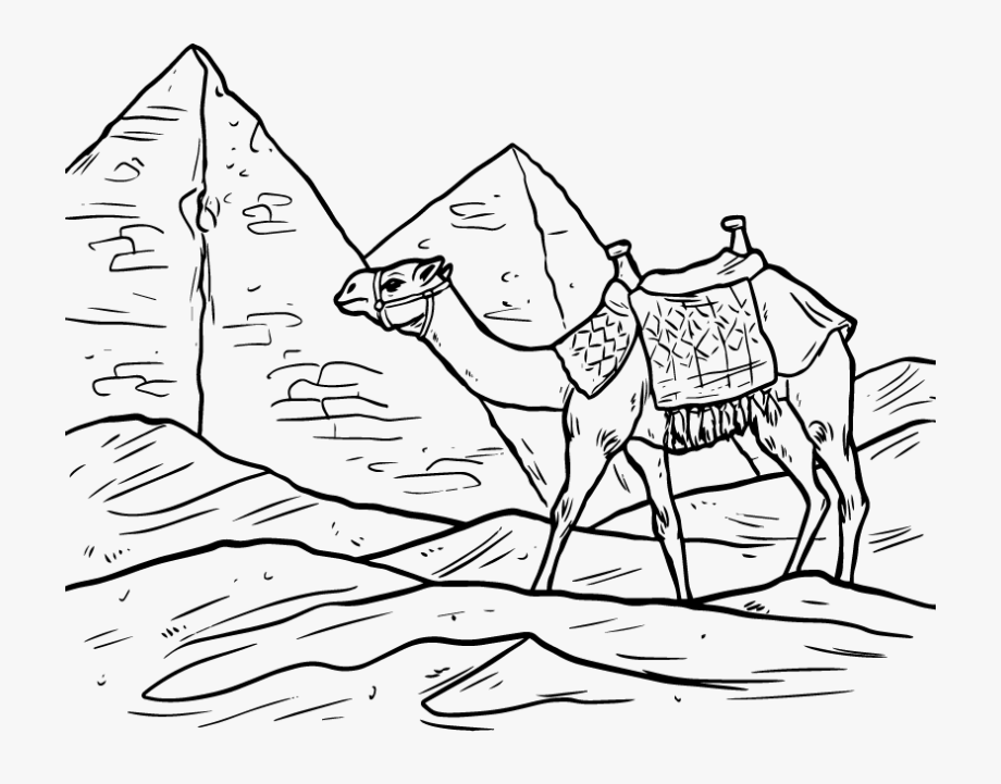 Egyptian Pyramids Ancient Egypt Camel Clip Art.