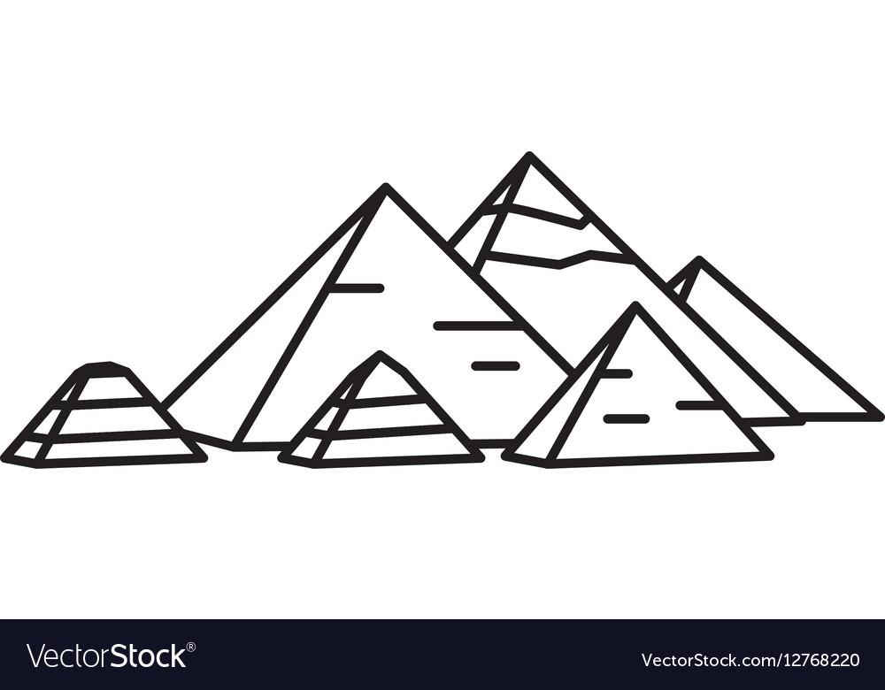 Ancient Egyptian pyramids.