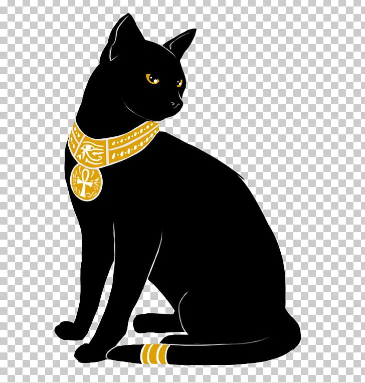 Egyptian Mau Ancient Egypt Kitten Bastet Black Cat PNG.